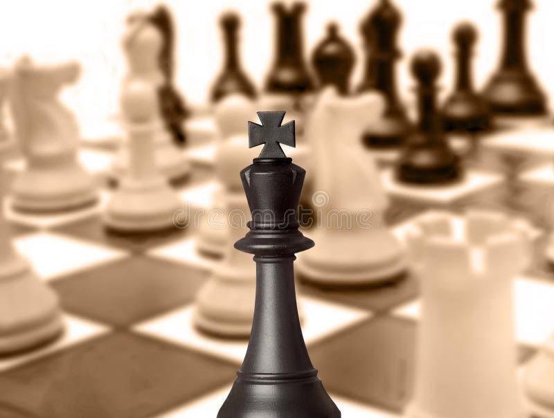 Pedazo de ajedrez negro del rey imagenes de archivo