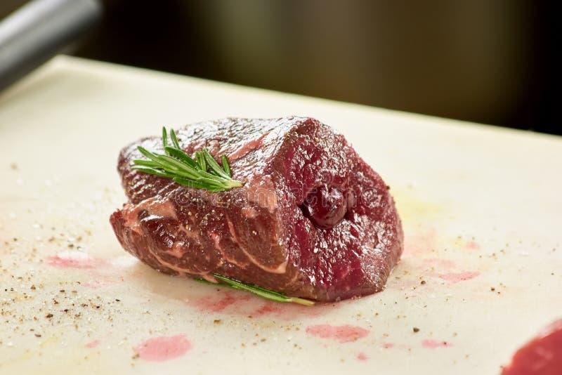 Pedazo de carne cocinado fotos de archivo libres de regalías
