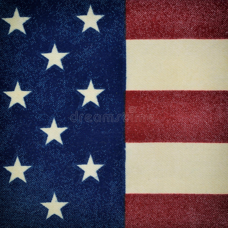 Pedazo de la bandera de los Estados Unidos foto de archivo libre de regalías