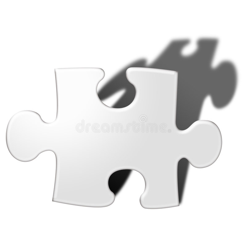 Pedazo de los rompecabezas stock de ilustración
