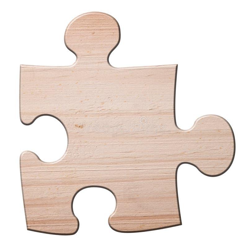 Pedazo de madera del rompecabezas del jigzaw. imágenes de archivo libres de regalías