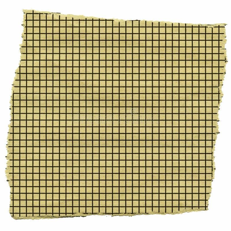 Pedazo de papel ajustado fotografía de archivo