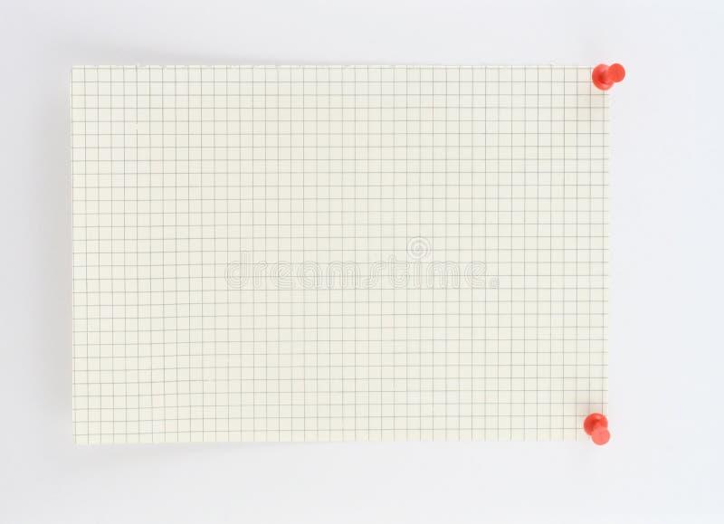 Pedazo de papel ajustado imagen de archivo