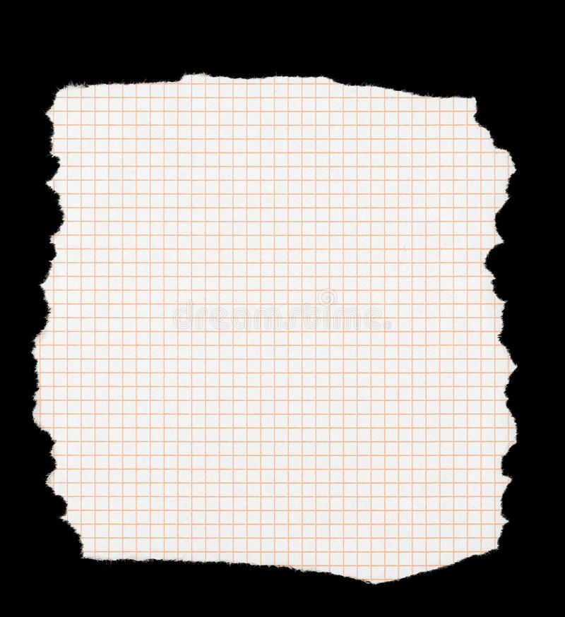 Pedazo de papel ajustado rasgado foto de archivo