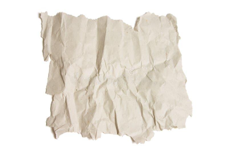 Pedazo de papel arrugado fotos de archivo