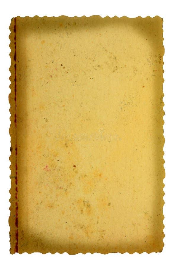 Pedazo de papel de la vendimia fotografía de archivo