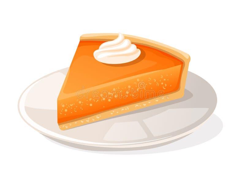 Pedazo de pastel de calabaza ilustración del vector