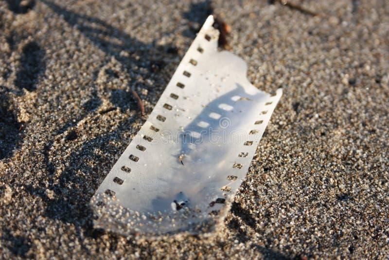Pedazo de película de tira análoga fotografía de archivo libre de regalías