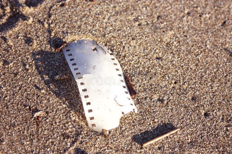 Pedazo de película de tira análoga imágenes de archivo libres de regalías