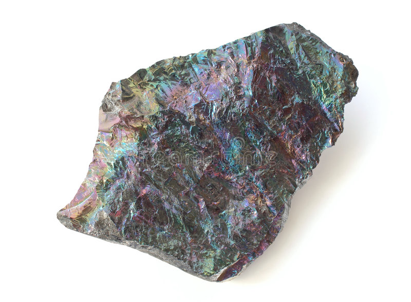 Pedazo de silicio cristalino imagenes de archivo