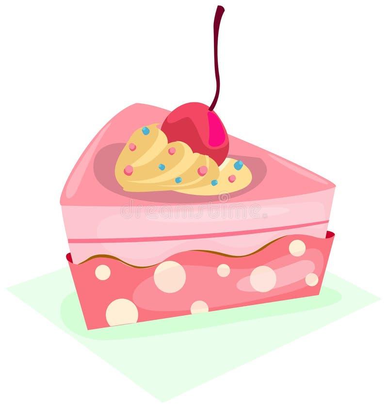 Pedazo de torta stock de ilustración