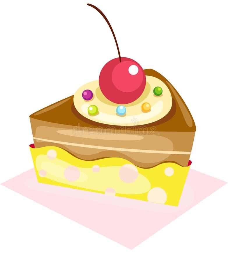 Pedazo de torta ilustración del vector
