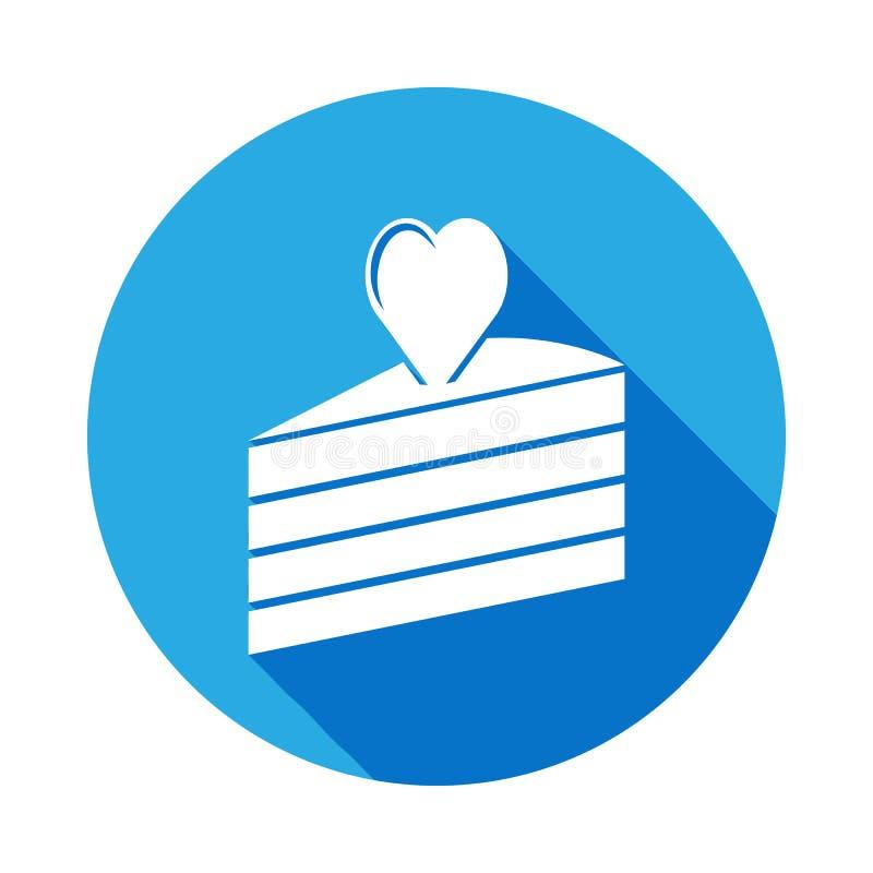 pedazo de torta con el icono del corazón Elemento del icono del día de madres Icono superior del diseño gráfico de la calidad Las stock de ilustración