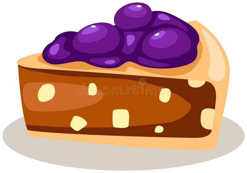 Pedazo de torta de la frambuesa libre illustration