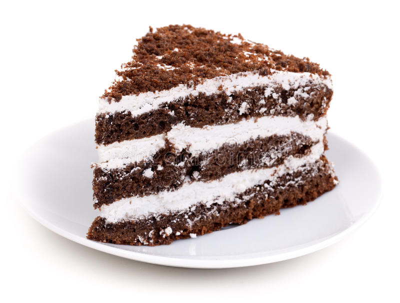 Pedazo del chocolate de torta foto de archivo