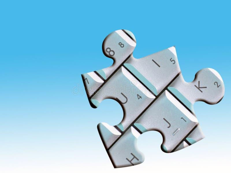 Pedazo del ordenador de los rompecabezas stock de ilustración