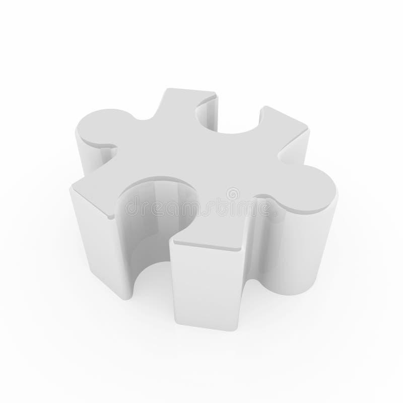 Pedazo del rompecabezas de rompecabezas ilustración del vector