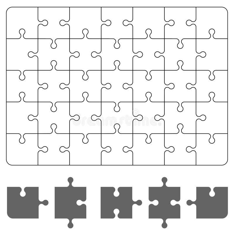 Pedazo del rompecabezas en el fondo blanco Rompecabezas del juego de mesa para su proyecto del negocio Ilustraci?n del vector libre illustration