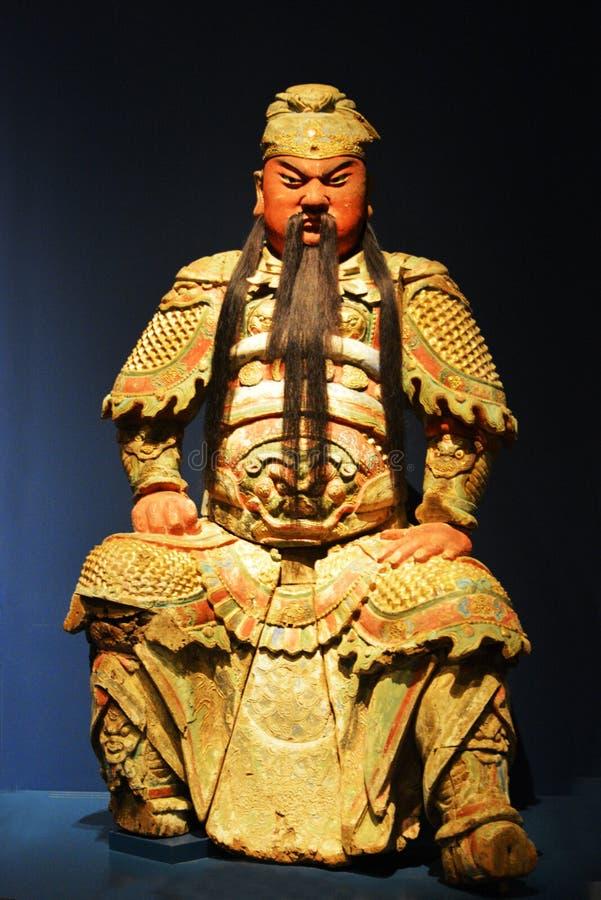 Pedazo hecho a mano de madera chino del arte imagenes de archivo