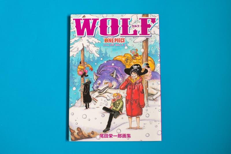 Pedazo japonés de Manga One - cómic publicado en revista semanal del salto de Shonen imágenes de archivo libres de regalías