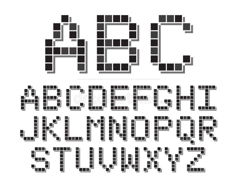 Fuente del pixel ilustración del vector