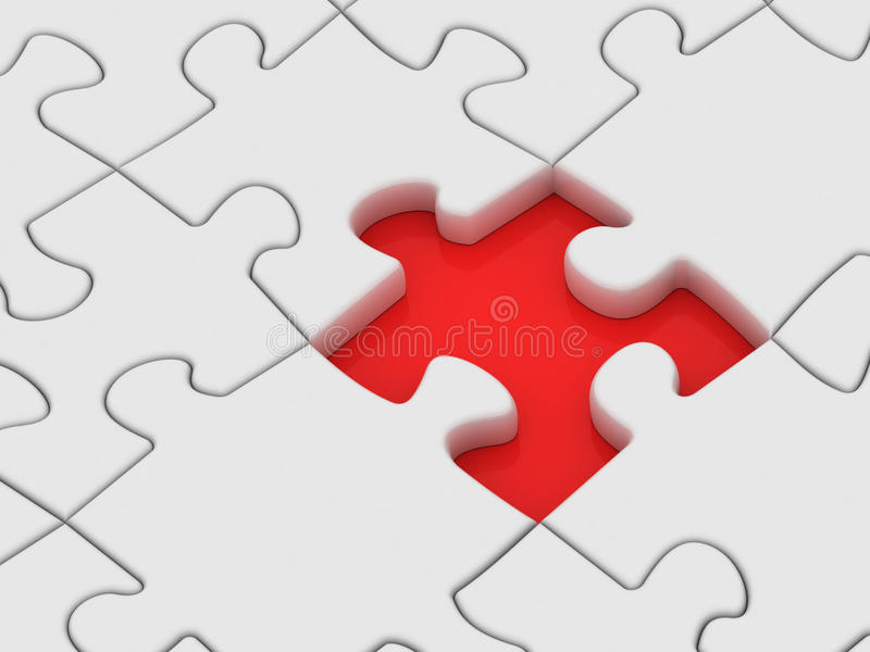 Pedazo perdido de rompecabezas. stock de ilustración