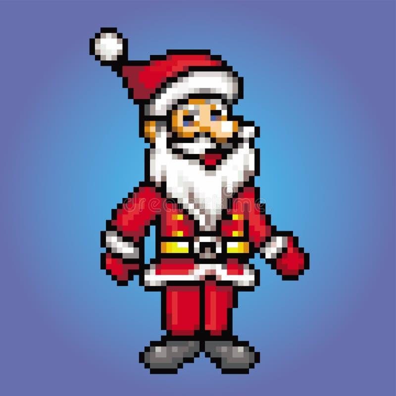 Pedazo retro 8 - ejemplo de Papá Noel del estilo del arte del pixel ilustración del vector