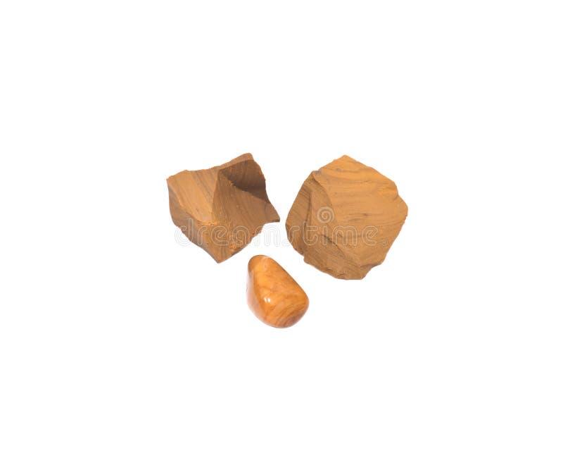 Pedazos amarillos del jaspe fotografía de archivo
