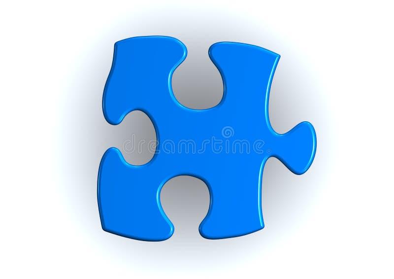 Pedazos azules del rompecabezas ilustración del vector