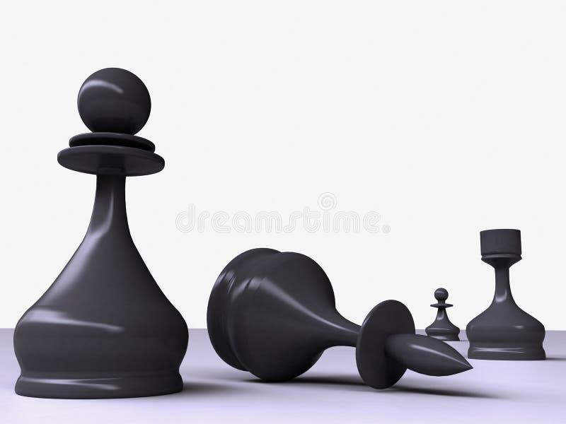 Pedazos de ajedrez stock de ilustración