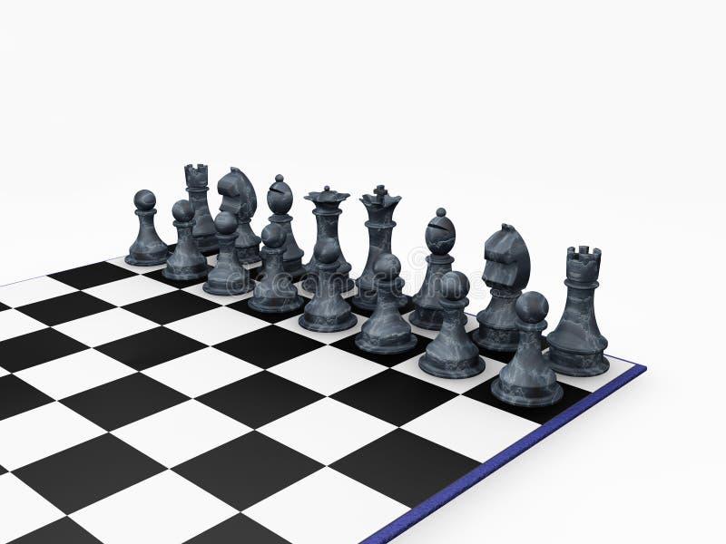 Pedazos de ajedrez ilustración del vector