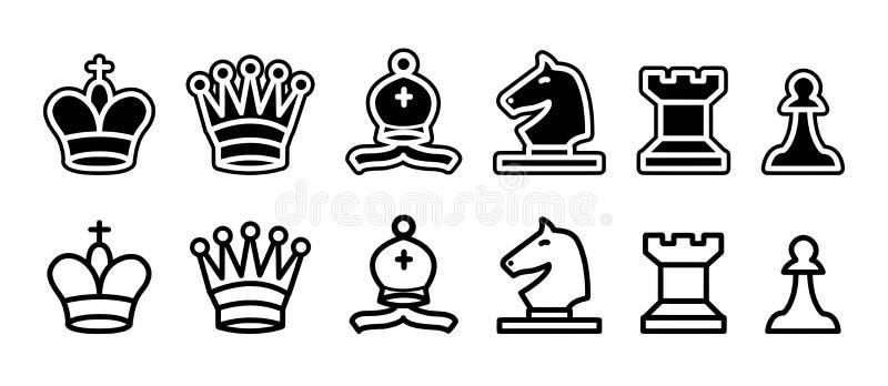 Pedazos de ajedrez aislados - png libre illustration