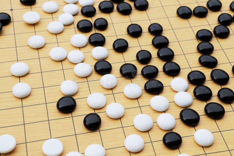 Pedazos de ajedrez chinos imagen de archivo libre de regalías