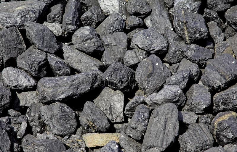 Pedazos de carbón fósil fotografía de archivo