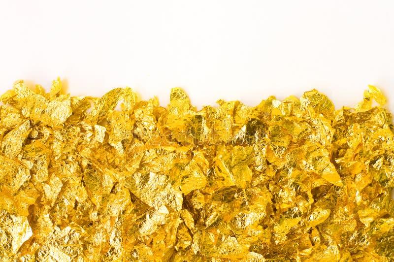 Pedazos de la hoja de oro imagen de archivo libre de regalías