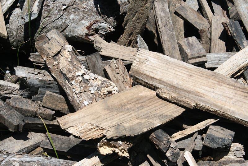 Pedazos de madera imagen de archivo libre de regalías