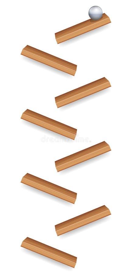 Pedazos de madera funcionados con mármol libre illustration