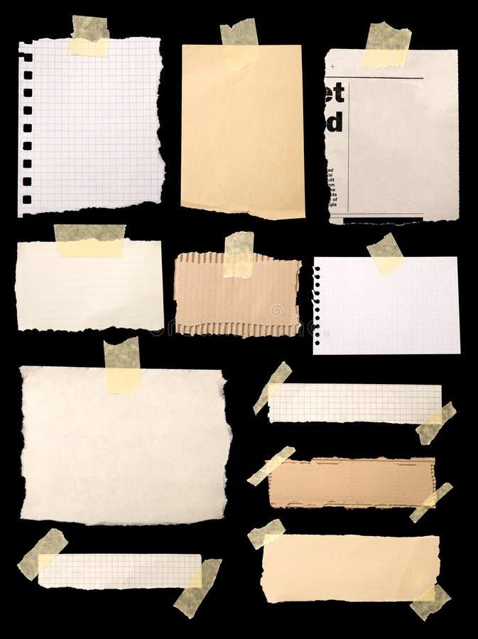Pedazos de papel de carta imágenes de archivo libres de regalías