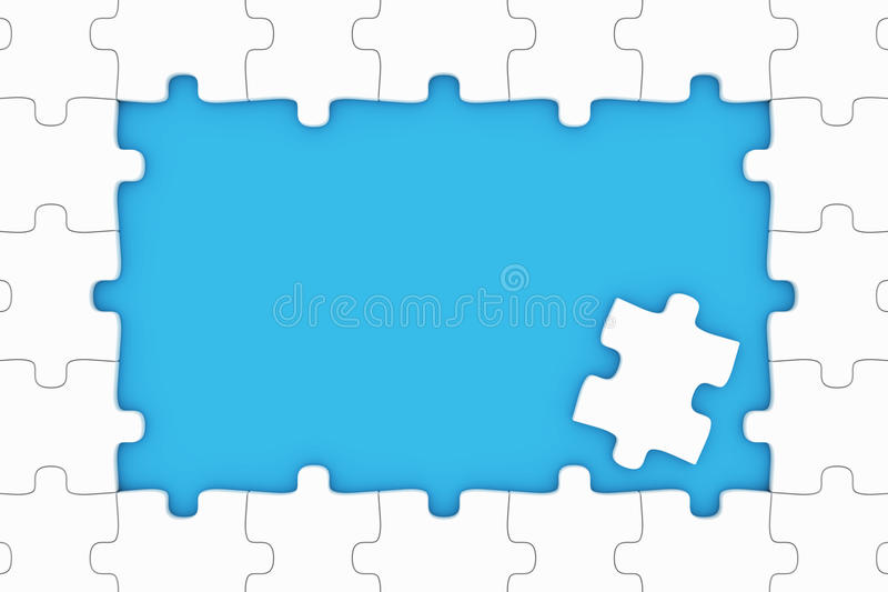 Pedazos del rompecabezas stock de ilustración