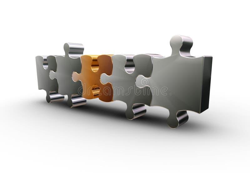 Pedazos del rompecabezas ilustración del vector
