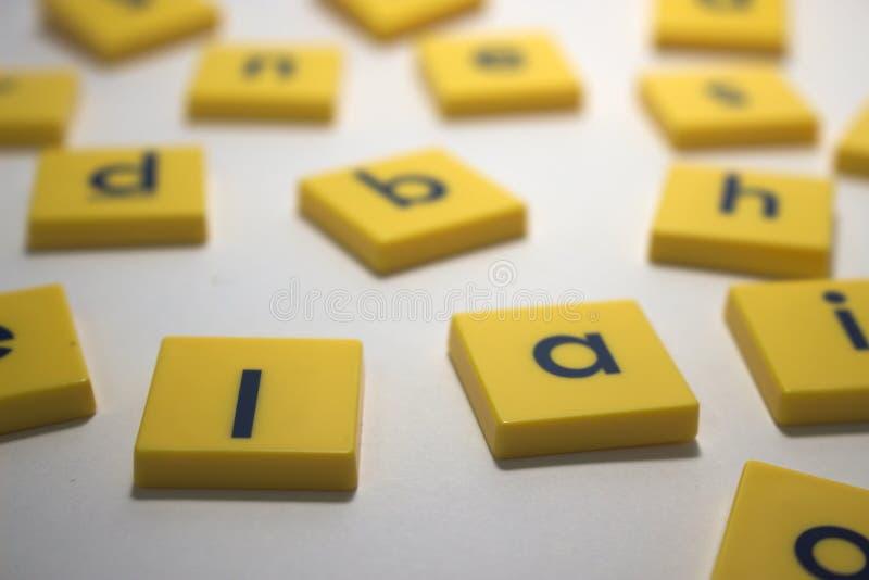 Pedazos del Scrabble foto de archivo libre de regalías