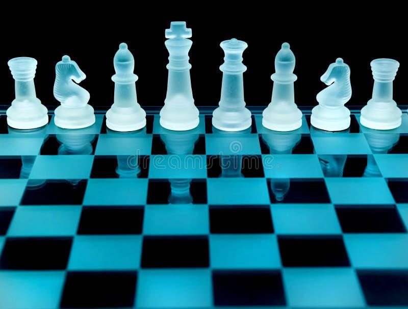 Pedazos del tablero de ajedrez imagen de archivo