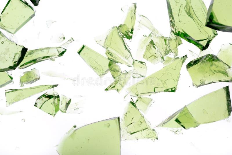 Pedazos verdes foto de archivo