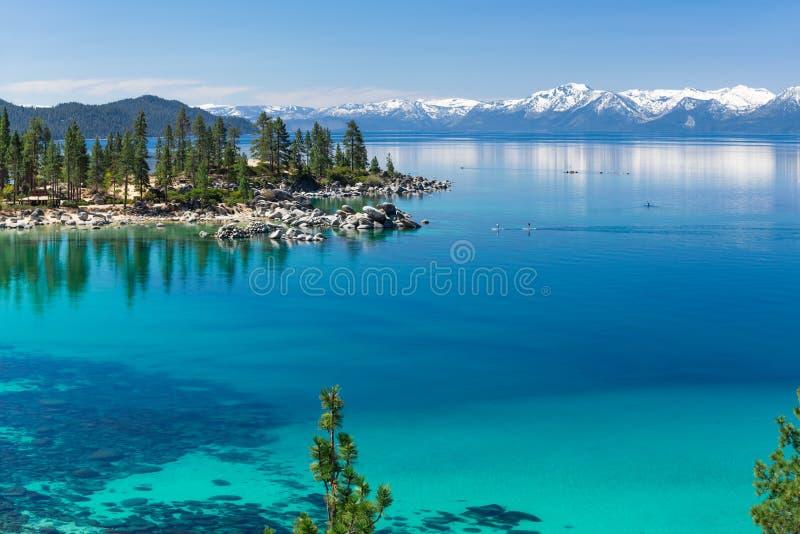 Peddel het inschepen Meer Tahoe royalty-vrije stock fotografie