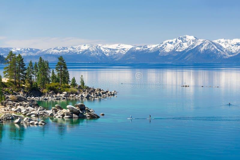 Peddel het inschepen Meer Tahoe royalty-vrije stock foto's