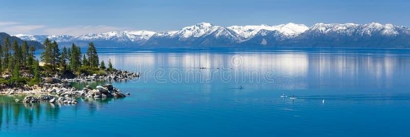 Peddel het inschepen Meer Tahoe stock foto's
