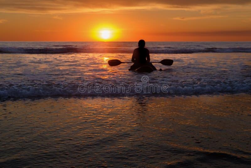 Peddelraad bij Zonsondergang, Del Mar, Californië stock afbeelding