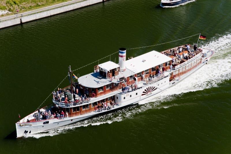 Peddelstoomboot stock foto's