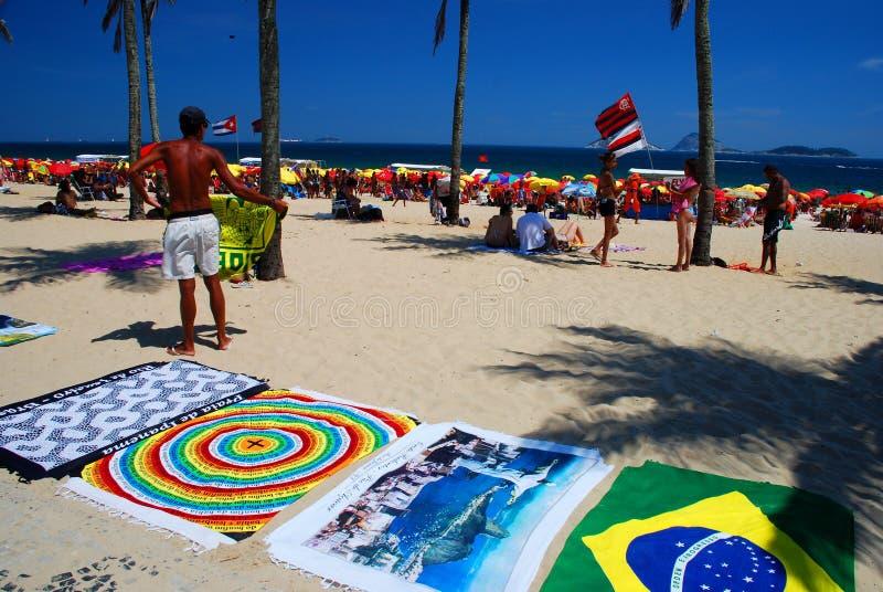 peddler Ipanema Rio de Janeiro Brasilien royaltyfri foto