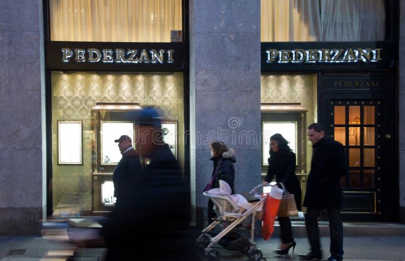 Pederzani商店 图库摄影